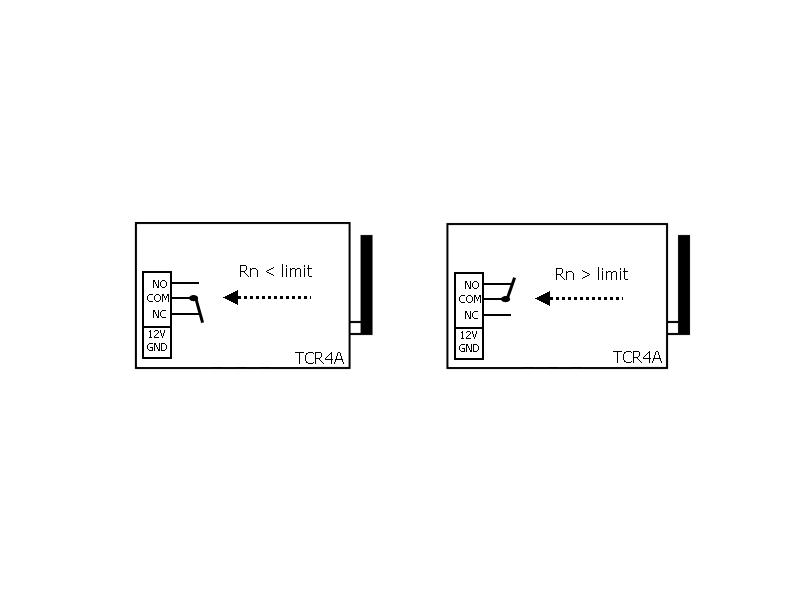 Schéma sepnutí paměťového relé