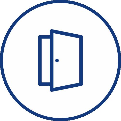 Door sensor TEDOOR for unauthorized entry guarding icon