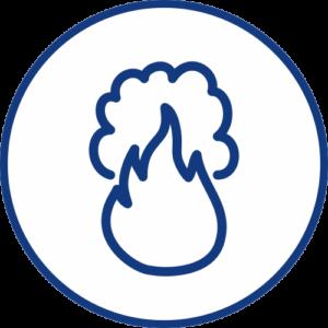 Smoke sensor TESMO for smoke detection icon