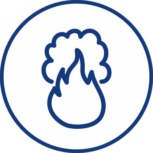 Detekce kouře ikona