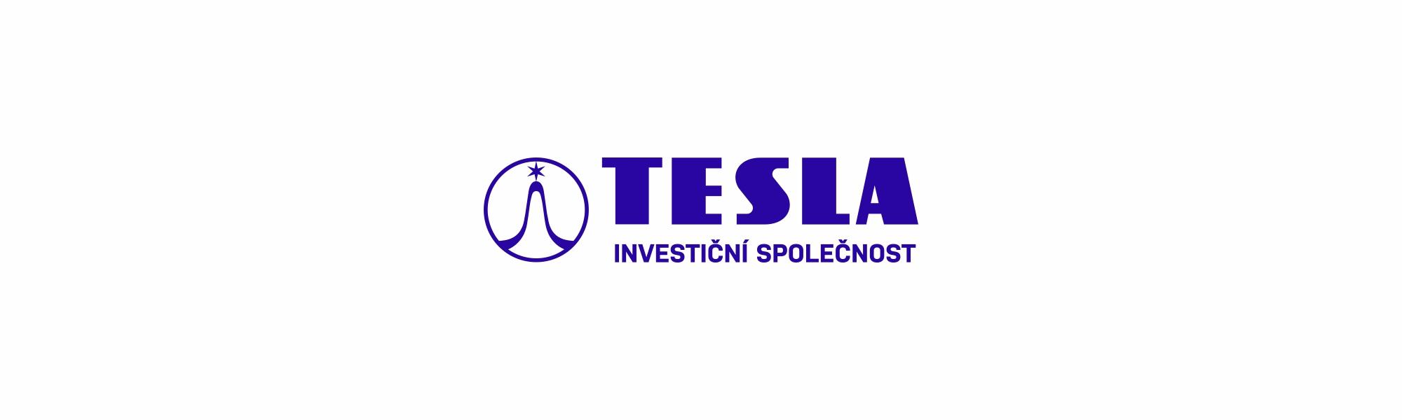 tesla investiční společnost logo banner