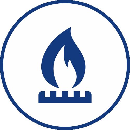 Únik plynu ikona